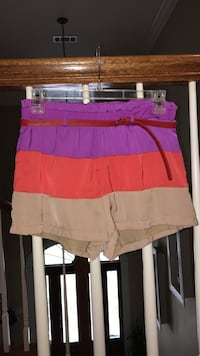 purple, orange and brown short with red leather belt Morton, 39117
