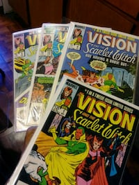 1985 Marvel Comics VISION and Scarlet Witch. #1 ,4,6 and #10 .