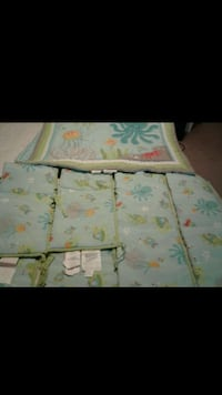 Baby crib bumper and baby quilt