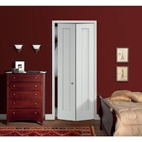 JELD-WEN 36 in. x 96 in. Madison White Painted Smooth Molded Composite MDF Closet Bi-Fold Door Houston, 77036