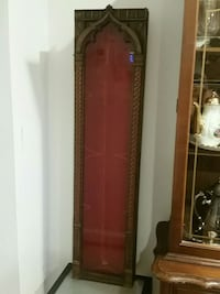 brown wooden framed glass display cabinet Alexandria, 22305