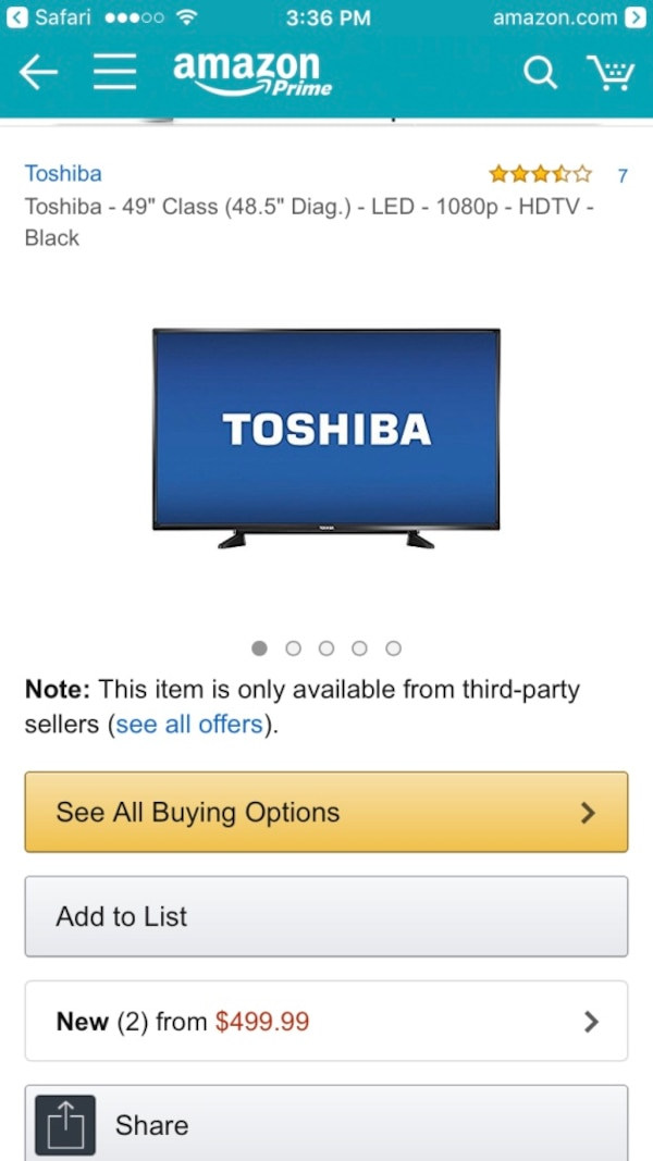 Open Box Toshiba Tv with Chromecast extension and best buy 3 year warranty
