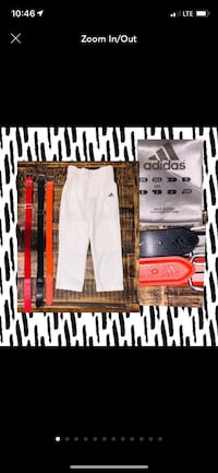 NEW XXS Adidas Baseball Pants &  3 NEW Belts Pearl, 39208