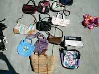 assorted color leather tote bags Victorville, 92392