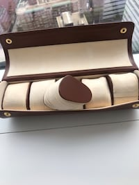 Real leather watch case