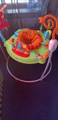 Baby's pink and green jumperoo Cicero, 60804