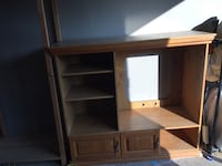 brown wooden TV hutch with cabinet Ottawa, K2K