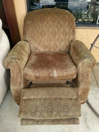 Brown fabric recliner Hollywood, 33024