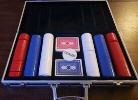 Poker Chips And Cards Set