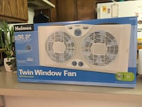 Holmes HAWF2043 Dual Blade Twin Window fan with One Touch Thermostat Los Angeles, 90041