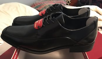 Men's black leather dress shoes-Size 10.5