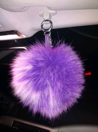 Fendi Pompom bag charm in purple fox fur Denver, 80223
