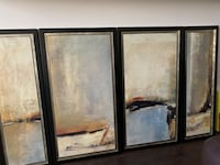 Abstract Framed art : 4 pieces Vancouver, V6L 1T1