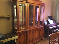 Brown wooden display cabinet Toronto, M6S 4E3