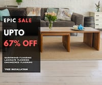 Hardwood, Laminate, Vinyl and Engineered Flooring on SALE! Plus, Free installation! Ontario