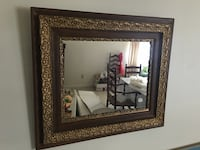 brass floral wall mounted mirror Washington, 63090