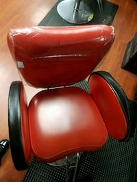 red leather padded rolling armchair Virginia Beach, 23462