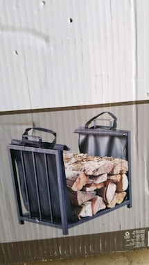 Log rack with tote. New in box
