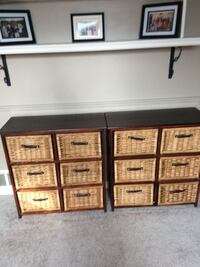 Wicker dresser Multi purpose Can be stacked separate or side by side