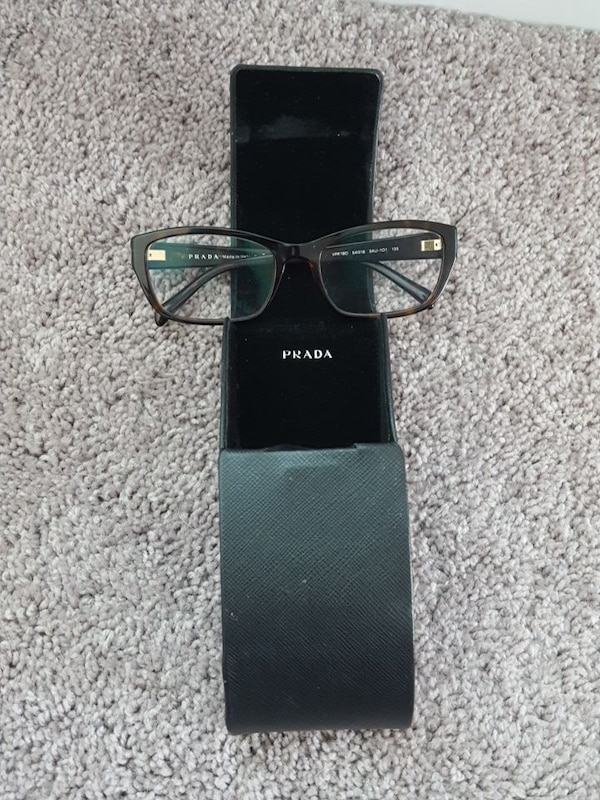 8570f35f04ff1 Used black-framed Prada eyeglasses with box for sale in Kyle - letgo