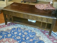 brown wooden coffee table with drawer Leesburg, 20176