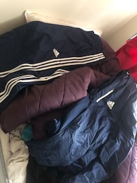 Black and white adidas zip-up jacket Takoma Park, 20912