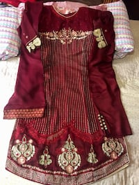 Brand new maroon pure embroidery dress  Jersey City, 07305