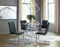 *Brand New* Madanere Silver Round Dining Room Set of 4 b Side Chairs by Ashley