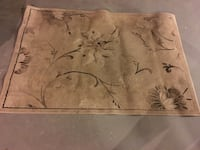 Beige, brown, and black floral area rug Vaughan, L6A 3C6