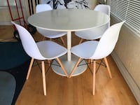 Sell By 10Am- Cb2 Table And Chairs Long Beach, 90804
