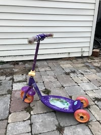 toddler's purple and pink kick scooter