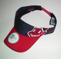 Cleveland Indians MLB New Era Adjustable Visor Cap London