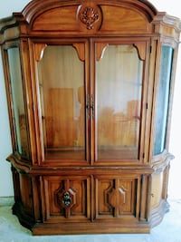 National Mt. Airy China Cabinet with original glass Woodbridge