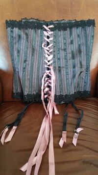 Dusty rose and black corset