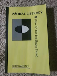 Moral Literacy or How To Do The Right Thing (Colin McGinn) USED