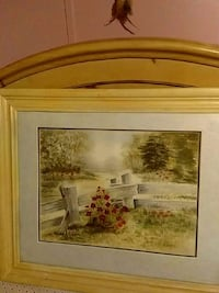 beige frame green grass painting Archdale, 27263