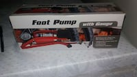 red foot pump with gauge in box Lancaster, 93536