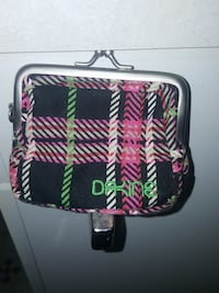 women's pink black and white laid coin purse Edmonton, T5C 0S8