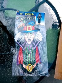 """Vintage 40"""" Halloween Paper Witch..In package Hanover, 17331"""