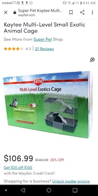 Large 3 Level Animal Cage Greenfield, 46140