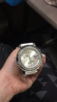 round silver-colored chronograph watch with link bracelet Gaithersburg, 20879
