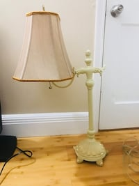 white and brown table lamp 152 mi