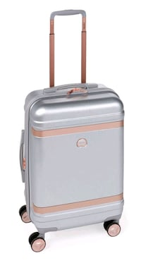"""Delsey 30"""" Silver and Rose Gold Luggage"""