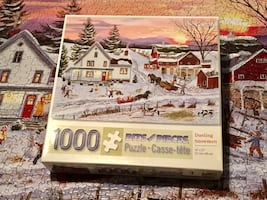 Bits and Pieces winter scene jigsaw puzzle