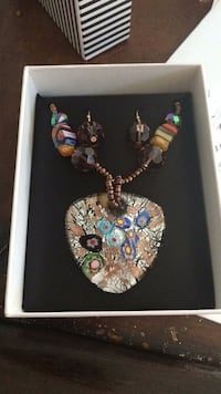 Mix it necklace and earrings set   La Place, 70068