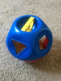 blue and yellow plastic toy