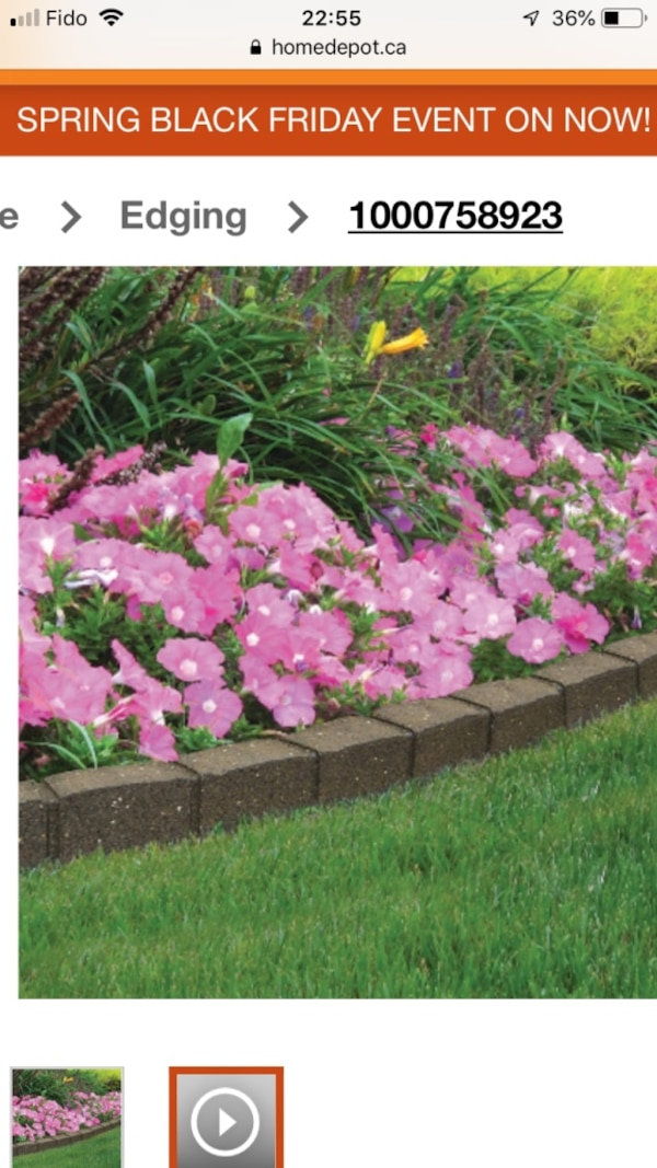 Edging for gardens and yards