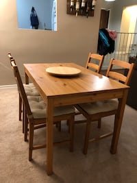 Jokkmokk Table and 4 chairs. - cushions included Toronto, M1T 3N2