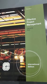 Effective Project Management by Clements Gido textbook Mississauga, L5A 1J9