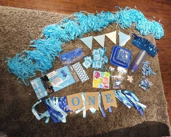 Used Blue Birthday Decorations For Sale In Hamilton